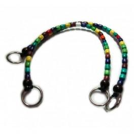 Manici per borse perline di legno di vari colori (prezzo per coppia)