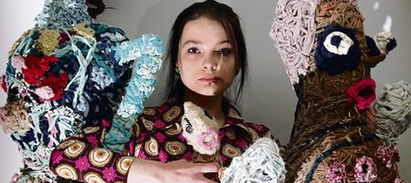 arte con tessuto riciclato